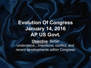 Evolution of Congress Notes