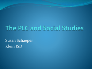 The PLC and Social Studies