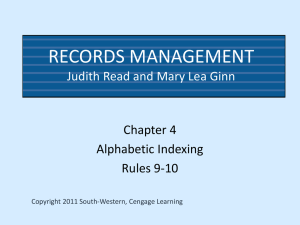 Records Management, Ninth Edition - RIMRules1-10