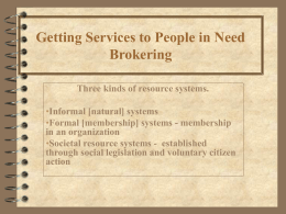 Copy of Getting Services to People in Need Power Pt.