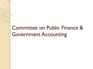 (PPTX, Unknown) - Committee on Public Finance and
