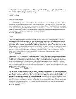 MFTRound04-Editors4 - Collegiate Quizbowl Packet Archive