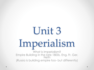 Unit 3 Imperialism - Kenston Local Schools