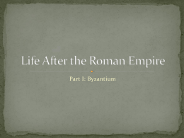 Byzantine Empire - Pearland Independent School District