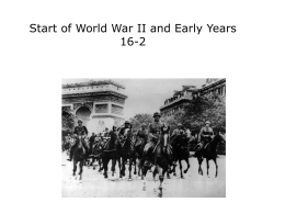 Start of World War II and Early Years