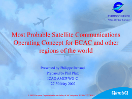 Most Probable Satellite Communications Operating Concept for