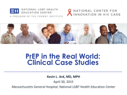 PreP in the Real World: Clinical Case Studies
