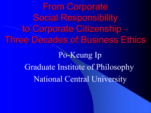From Corporate Social Responsibility to Corporate Citizenship