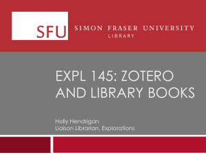 Slide 1 - Simon Fraser University Library