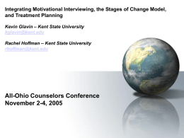Integrating Motivational Interviewing, the Stages