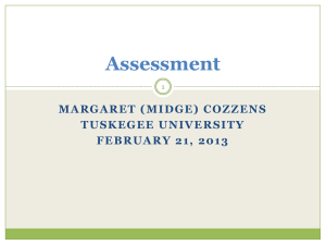 Assessment - Tuskegee University