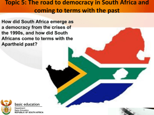 DBE, SA Democracy and TRC PowerPoint (Topic 5)