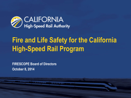 California High Speed Rail Authority Power Point
