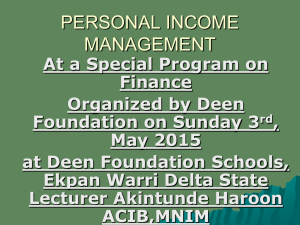 personal income management