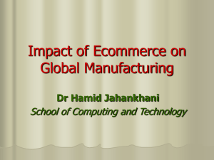 Impact of Ecommerce on Global Manufacturing .(English)