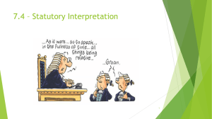 7.4 – Statutory Interpretation