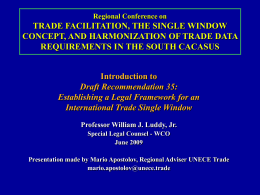 Establishing a Legal Framework for an International Trade Single
