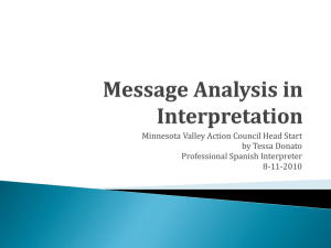 Message Analysis in Interpretation