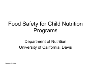 Lesson 1 - UC Davis Center for Nutrition in Schools