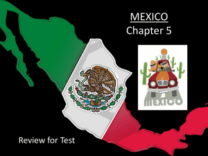 Chapter 5 Mexico PowerPoint Test Review