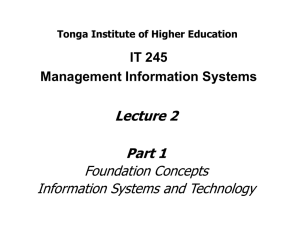 Foundation Concepts - Tonga Institute of Higher Education