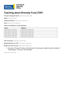 the Funding Application for the 2016