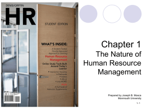 Chapter 1 The Nature of Human Resource Management