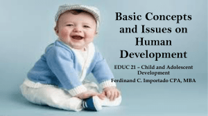 Basic Concepts and Issues on Human Development