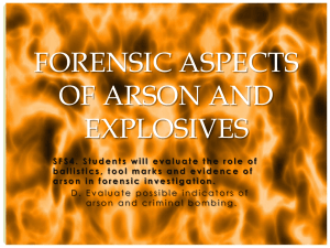 Forensic Arson and Explosives Analysis
