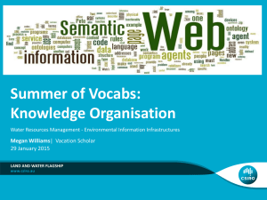 Summer of Vocabs: Knowledge Organisation