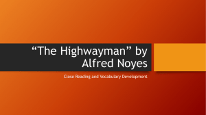 The Highwayman Close Read