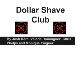 Dollar Shave Club PowerPoint