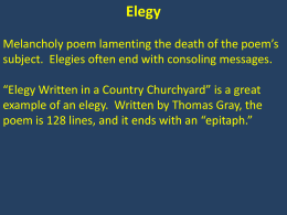 elegy written in a country churchyard essay questions More info on elegy written in a country churchyard thomas gray tried to prevent the publication of elegy written in a country churchyard and with spring nearing, gray questioned if his own life would enter into a sort of rebirth cycle or, should he die, if there would be anyone to remember him.
