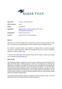 Baker Tilly is one of the UK's largest firms of chartered accountants
