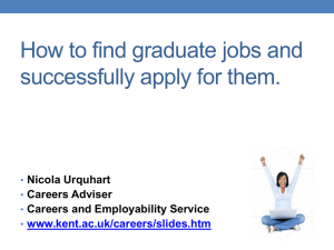 How to be successful in the graduate job-market
