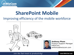 Improving efficiency of mobile workforce SV