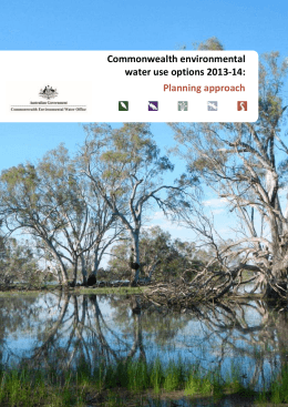Annual water use options 2013-14 Planning approach context
