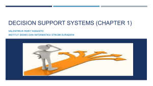 decision support systems (chapter 1)