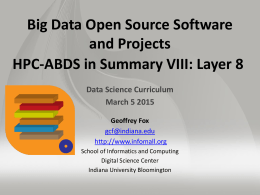 PPT - Big Data & Open Source Software Projects