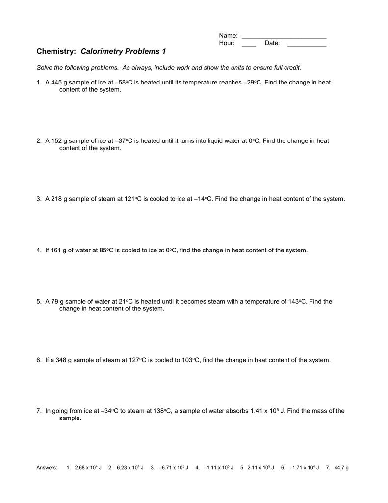worksheet Calorimetry Worksheet 1 Answers 009959956 1 7745b5ff6f89ef500f533cfabc9b4768 png