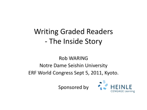 Writing Graded Readers - The Inside Story