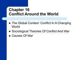 Global Conflict and War
