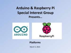 Arduino & Raspberry Pi Special Interest Group