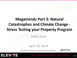 Stress Testing your Property Program