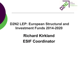 What are the European Structural and Investment Funds?
