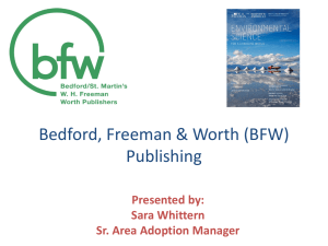 Video - Bedford, Freeman, and Worth Publishers: High School
