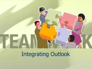 Integrating Outlook