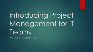 Introducing Project Management for IT Teams