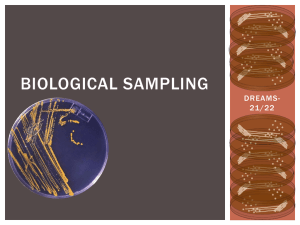Biological sampling2134