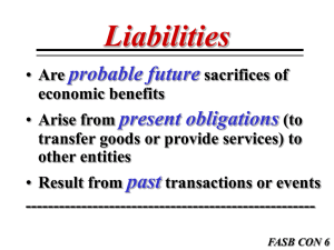 FASB CON 6 Current Liabilities